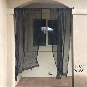 Two Panel Sheer Curtain